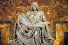 Michelangelo's Pietà in the  St. Peter's Basilica(Vatican City, 2007. Foto: Harold Pelgrom)